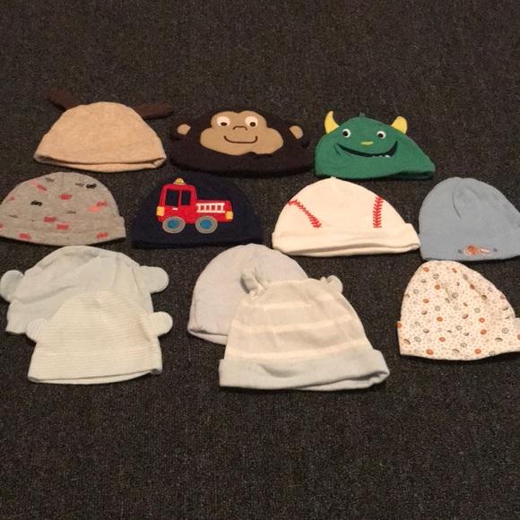 ea4dbf672 Carter's Accessories | Lot Of Boy Newborn Hats | Poshmark